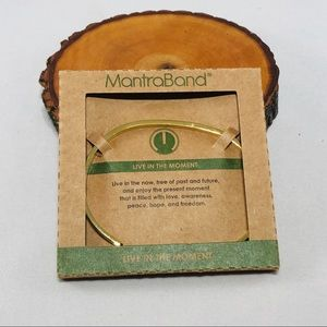Mantraband Live in the Moment Gold bracelet